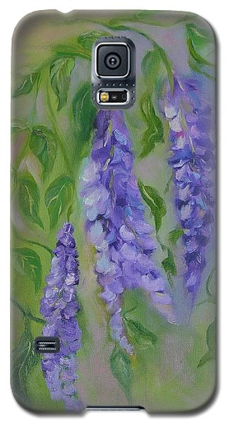 Galaxy S5 Case featuring the painting Wisteria by Carol Berning