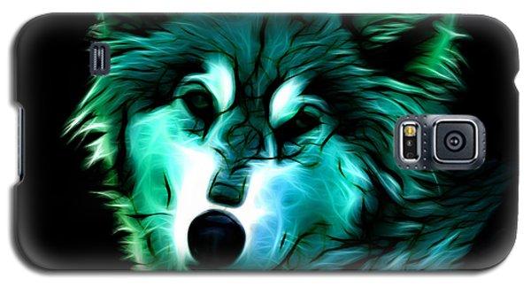 Wolf - Cyan Galaxy S5 Case