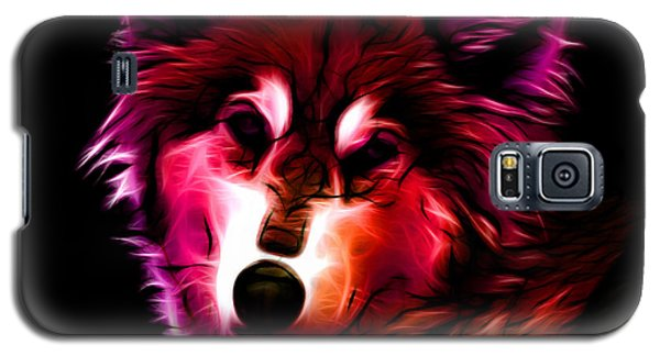 Galaxy S5 Case featuring the digital art Wolf - Red by James Ahn