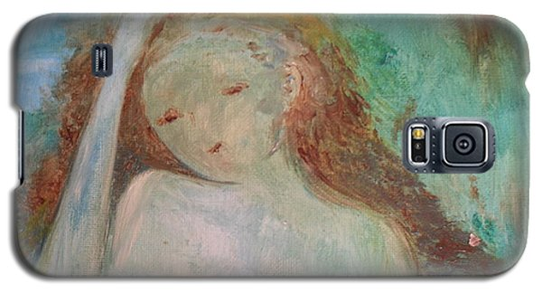 Galaxy S5 Case featuring the painting Woman Of Sorrows by Laurie L