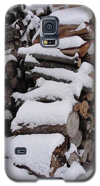Galaxy S5 Case featuring the photograph Wood Pile by Tiffany Erdman