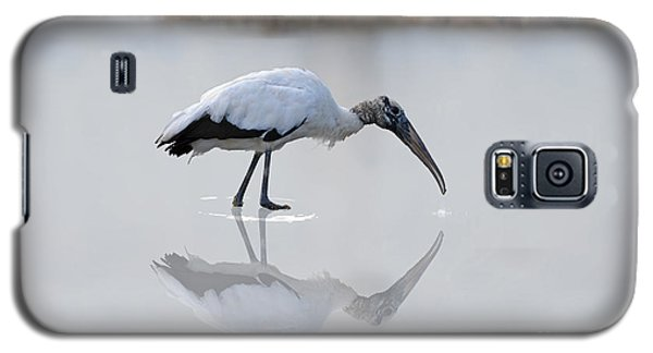 Galaxy S5 Case featuring the photograph Wood Stork Eating by Dan Friend