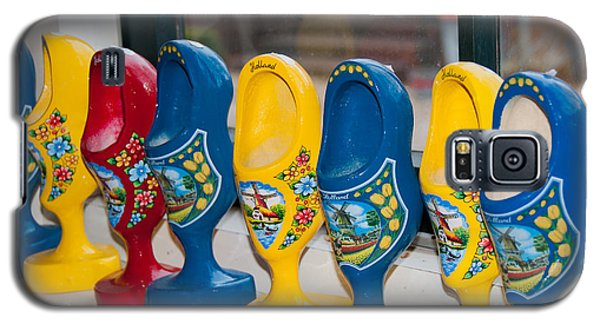 Galaxy S5 Case featuring the digital art Wooden Shoes by Carol Ailles