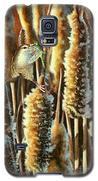 Wren And Cattails 2 Galaxy S5 Case