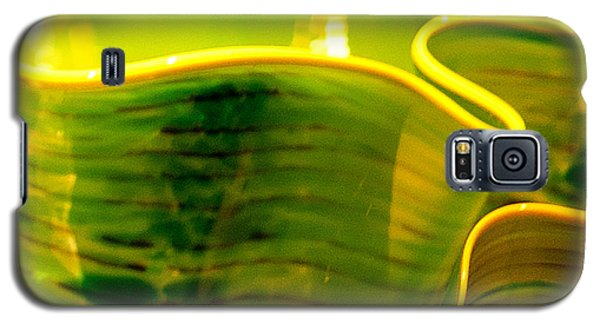 Yellow And Green Galaxy S5 Case by Artist and Photographer Laura Wrede
