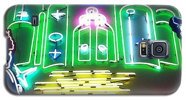 Movie Galaxy S5 Case - Yellow Brick Road. Neon Movie Art by Jim Spencer