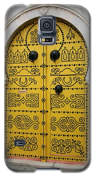 Galaxy S5 Case featuring the photograph Yellow Door In Bardo by Laurel Talabere