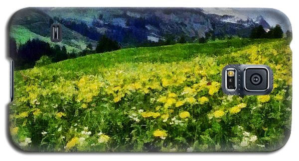 Galaxy S5 Case featuring the painting Yellow Fields Forever by Elizabeth Coats
