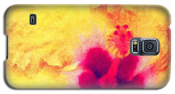 Yellow Hibiscus Flower Galaxy S5 Case