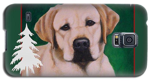 Yellow Labrador Portrait Christmas Galaxy S5 Case