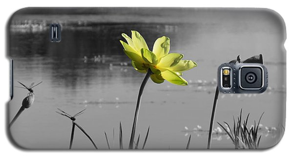 Galaxy S5 Case featuring the photograph Yellow Lotus by Deborah Smith