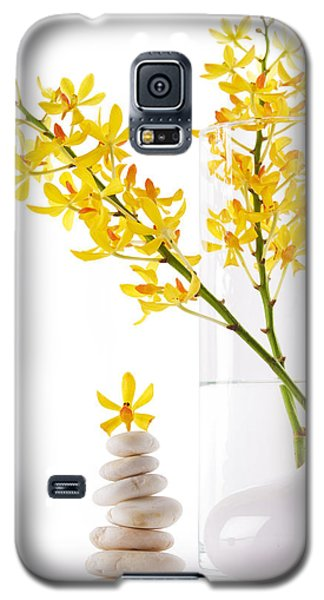 Yellow Orchid Bunchs Galaxy S5 Case