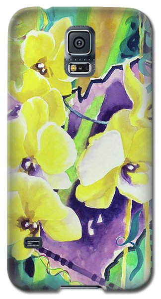 Yellow Orchids Of The Heart Galaxy S5 Case