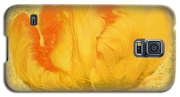 Galaxy S5 Case featuring the painting Yellow Parrot Tulip by Richard James Digance