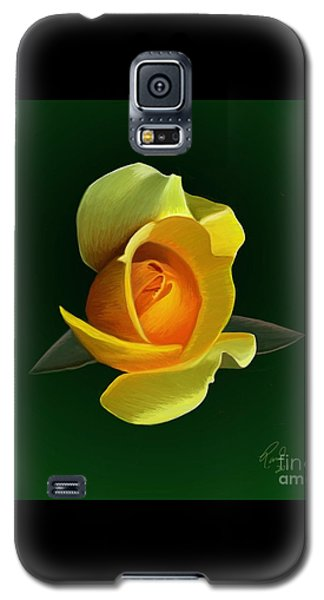 Galaxy S5 Case featuring the painting Yellow Rose by Rand Herron