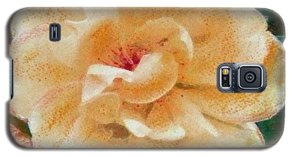 Galaxy S5 Case featuring the painting Yellow Rose by Richard James Digance