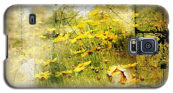 Yellow Wildflower Field Abstract Galaxy S5 Case by Elaine Manley