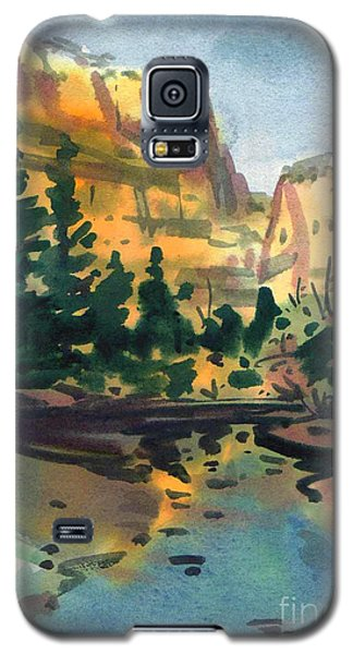 Galaxy S5 Case featuring the painting Yosemite Valley In January by Donald Maier