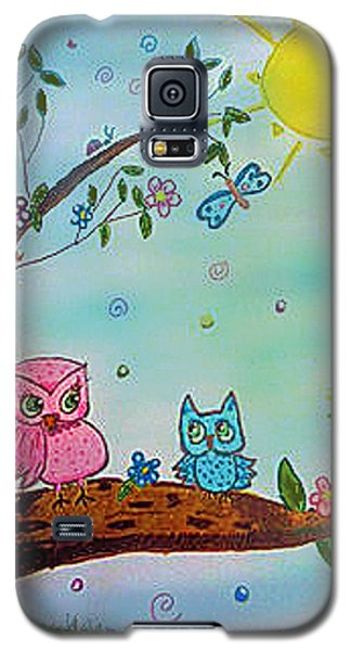 Galaxy S5 Case featuring the painting You Can Do It  by Elizabeth Coats