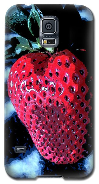 Galaxy S5 Case featuring the photograph Zebra Strawberry by Kym Backland