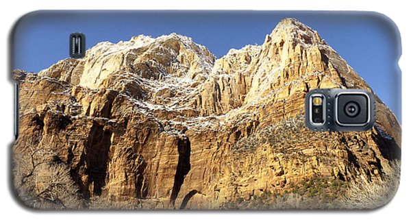 Galaxy S5 Case featuring the photograph Zion Cliffs by Bob and Nancy Kendrick