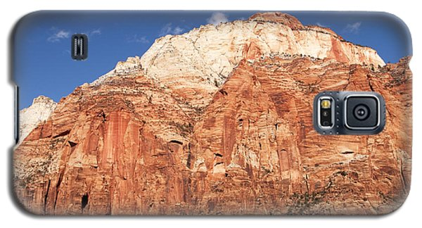 Galaxy S5 Case featuring the photograph Zion Red Rock by Bob and Nancy Kendrick