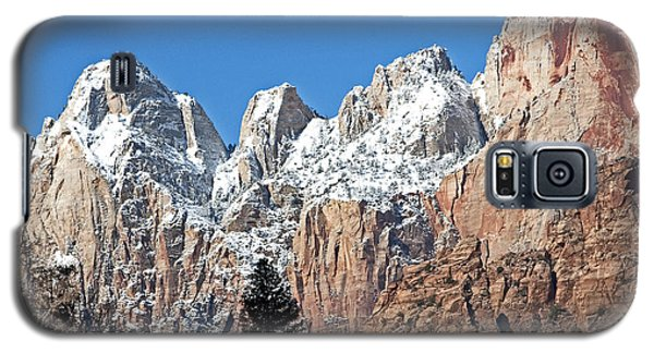 Galaxy S5 Case featuring the photograph Zion Towers by Bob and Nancy Kendrick