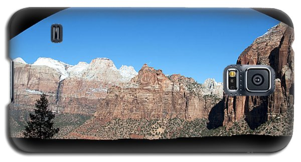 Galaxy S5 Case featuring the photograph Zion Tunnel View by Bob and Nancy Kendrick