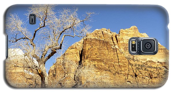 Galaxy S5 Case featuring the photograph Zion Winter Sky by Bob and Nancy Kendrick