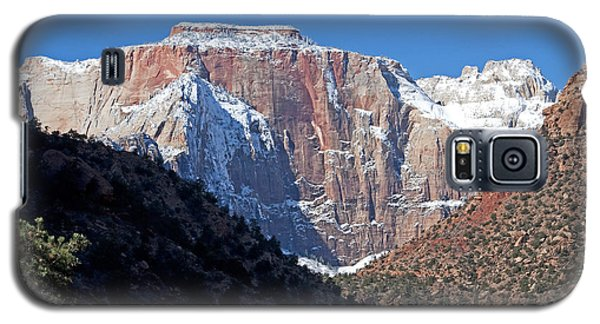Galaxy S5 Case featuring the photograph Zion's West Temple by Bob and Nancy Kendrick
