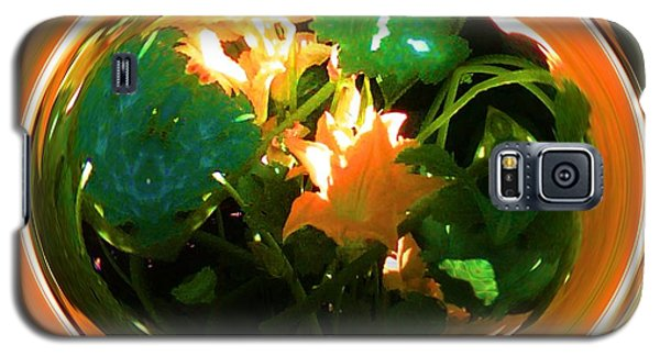 Galaxy S5 Case featuring the photograph Zucchini Flowers Under Glass by George Pedro