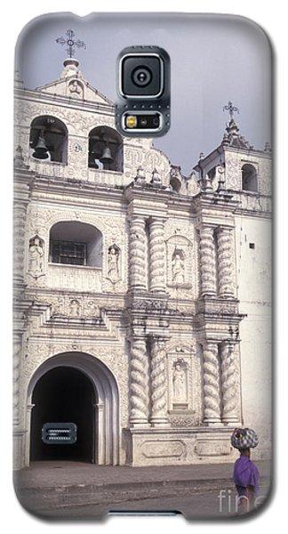 Galaxy S5 Case featuring the photograph Zunil Church Guatemala by John  Mitchell