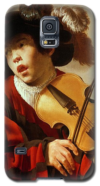 Violin Galaxy S5 Case -  Boy Playing Stringed Instrument And Singing by Hendrick Ter Brugghen