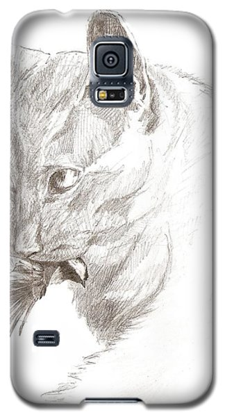 Cat And Chickadee Galaxy S5 Case