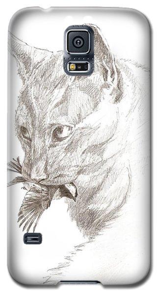 Cat And Chickadee Galaxy S5 Case