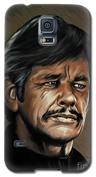 Galaxy S5 Case featuring the painting  Charles by Andrzej Szczerski