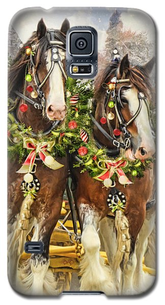 Christmas Clydesdales Galaxy S5 Case