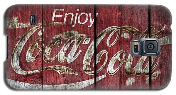 Coca Cola Sign Barn Wood Galaxy S5 Case
