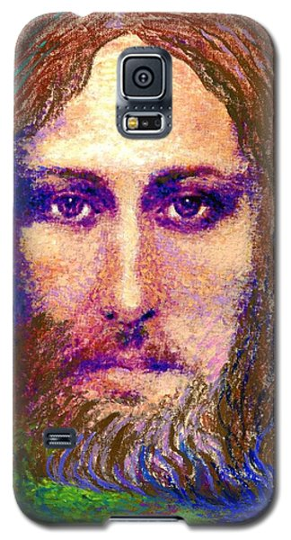 Contemporary Jesus Painting, Chalice Of Life Galaxy S5 Case by Jane Small
