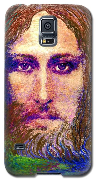 Galaxy S5 Case featuring the painting  Contemporary Jesus Painting, Chalice Of Life by Jane Small