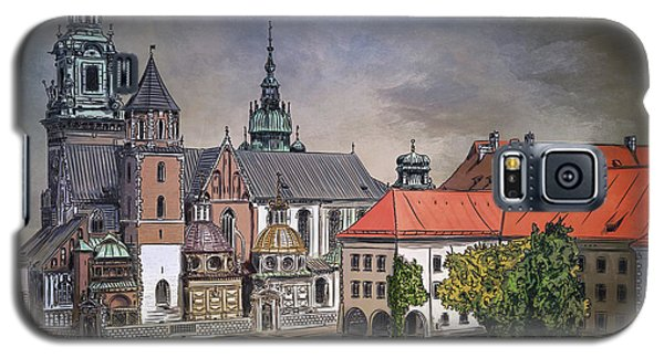 Galaxy S5 Case featuring the painting  Cracow.world Youth Day In 2016. by Andrzej Szczerski