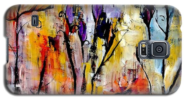 Crazy Messy Fall Yard Art Galaxy S5 Case by Lisa Kaiser