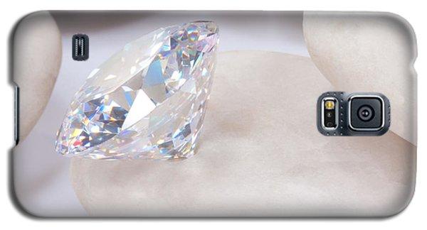 Diamond On White Stone Galaxy S5 Case