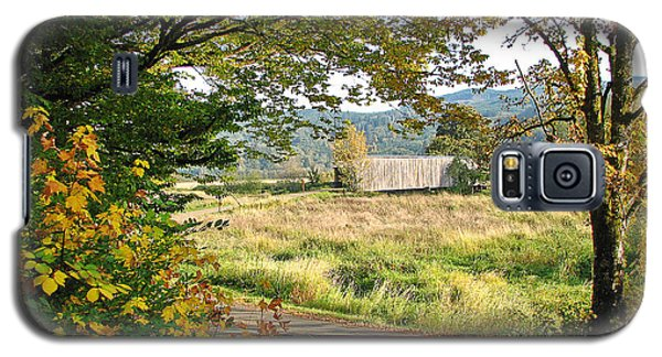 Fall At Grays River Covered Bridge Galaxy S5 Case