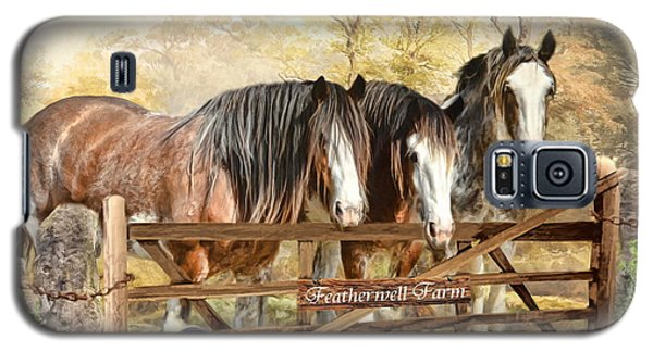 Galaxy S5 Case featuring the digital art  Featherwell Farm by Trudi Simmonds