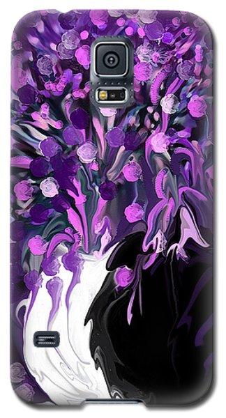 Flower Art Love Purple Flowers  Love Pink Flowers Galaxy S5 Case by Sherri's Of Palm Springs