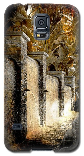 Galaxy S5 Case featuring the photograph   Flowing Waterfall  by Athala Carole Bruckner