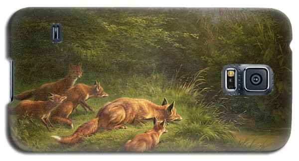 Foxes Waiting For The Prey   Galaxy S5 Case by Carl Friedrich Deiker