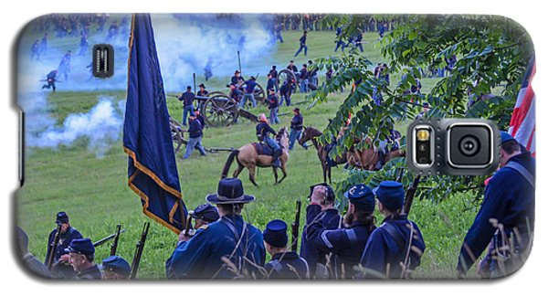 Gettysburg Union Artillery And Infantry 7459c Galaxy S5 Case