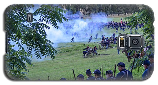 Gettysburg Union Artillery And Infantry 7465c Galaxy S5 Case